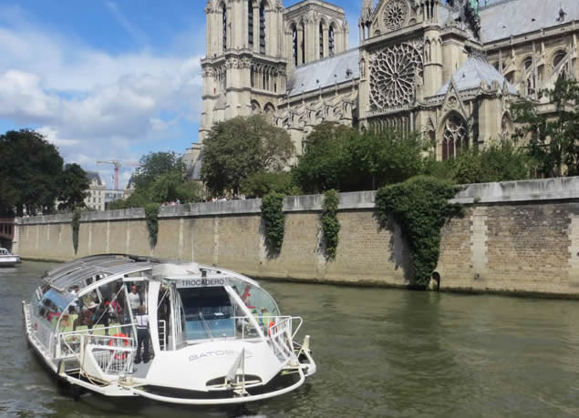 Paris Batobus River Bus Hop On Hop Off Sightseeing By Boat