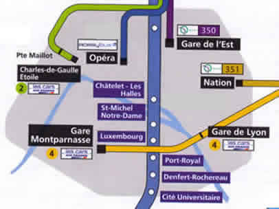 CDG Airport Bus & Train Map To Central Paris