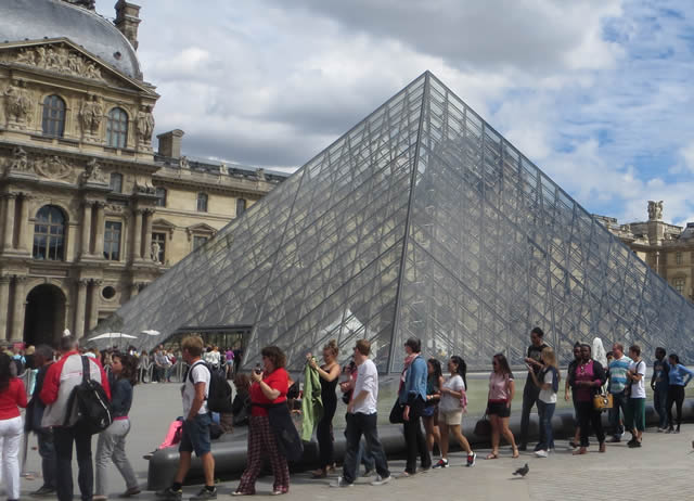 The Louvre Pyramid Paris