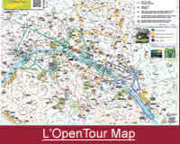 L'OpenTour Hop On Hop Off Paris Map