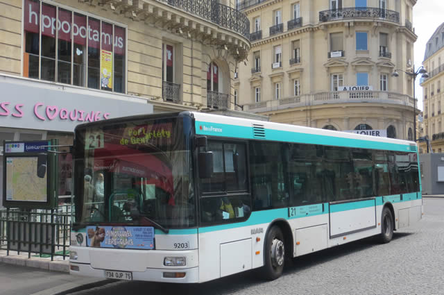 city bus services in paris fares maps passes for visitors. Black Bedroom Furniture Sets. Home Design Ideas